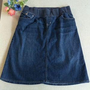 Gap Maternity Jean Skirt 8 / 29 Comfort Waist Midi